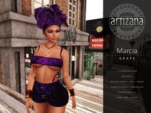 Artizana - Marcia (Grape) - Tube Top + Shorts + Headwrap