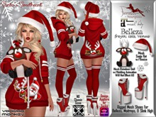 [VM] Santa's Sweetheart - Christmas Hoodie Outfit for Belleza, Maitreya, Slink, and Hourglass