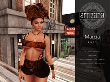 Artizana - Marcia (Rust) - Tube Top + Shorts + Headwrap