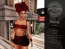 Artizana - Marcia (Rage) - Tube Top + Shorts + Headwrap