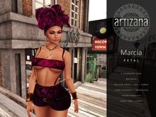 Artizana - Marcia (Petal) - Tube Top + Shorts + Headwrap