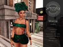 Artizana - Marcia (Jade) - Tube Top + Shorts + Headwrap