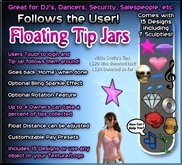 Copyable Floating Tip Jars - Follows the user - with Percentage Splitting - Now with Sculpties!