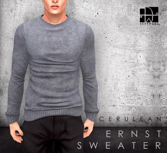[Deadwool] Ernst sweater - cerulean