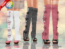 ::MA:: HOPE Heels with Knee Sock Leg Warmers, Maitreya, Belleza, Slink - 50 COLORS PACK
