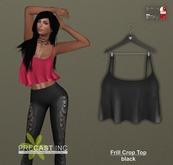PRECAST Inc. - Frill Crop Top - black