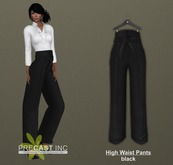 PRECAST Inc. - High Waist Pants with Belt - black