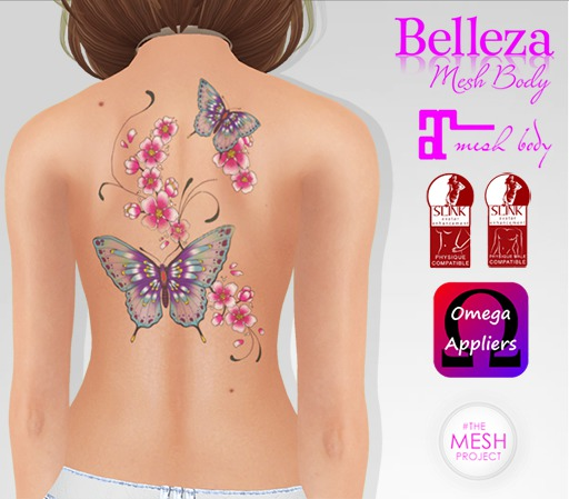 TSB ::: Tattoo butterfly with petals 1