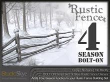 Skye Rustic Fence Four Season Bolt-On Set [script + snow only]