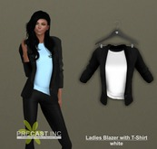 PRECAST Inc. - Ladies Blazer with T-shirt - white