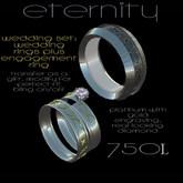"""Eternity""wedding set- wedding rings,engagement"