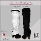 =Noir Neige= ESMI Boots Black