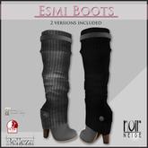 =Noir Neige= ESMI Boots Grey