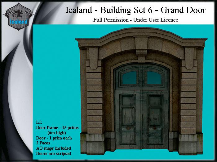 Icaland - Building Set 6 - Grand Door