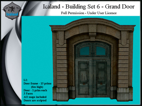 Icaland - Building Set 6 - Grand Door