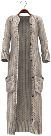 !APHORISM! Chunky Knit Cardigan ~ Beige