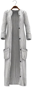 !APHORISM! Chunky Knit Cardigan ~ White