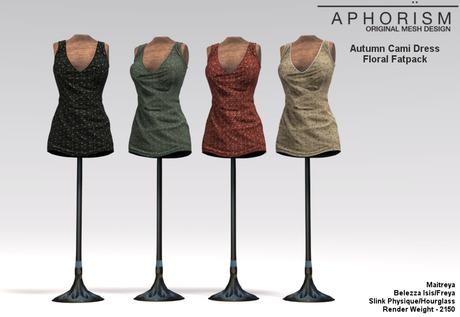 !APHORISM! Autumn Cami Dress ~ Floral Fatpack