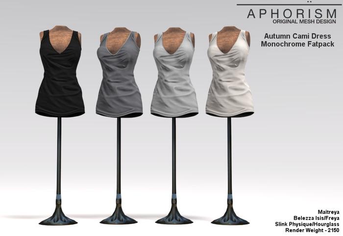 !APHORISM! Autumn Cami Dress ~ Monochrome Fatpack