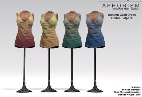 !APHORISM! Autumn Cami Dress ~ Ombre Fatpack