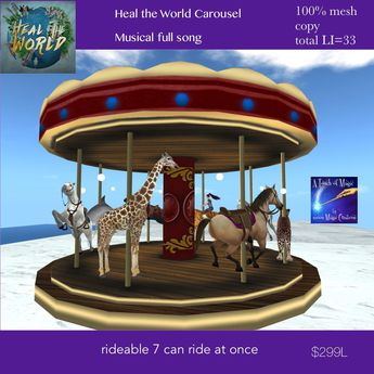 Heal the World Musical Carousel (crate)