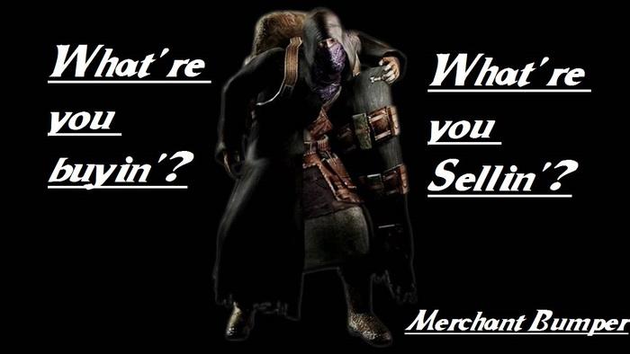 Second Life Marketplace Resident Evil 4 Merchant Bumper