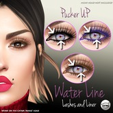 Pucker UP - Water Line - Lashes&Liner Set- for CATWA Mesh Head