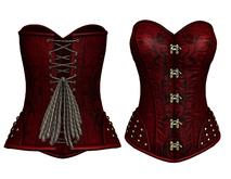 DE Designs - Judith Corset - Maitreya Lara, Belleza (All), Slink Physique-Hourglass - Mesh - Red Pattern