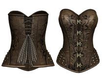 DE Designs - Judith Corset - Maitreya Lara, Belleza (All), Slink Physique-Hourglass - Mesh - Tan Pattern