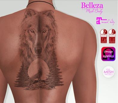 TSB ::: Tattoo wolf unisex