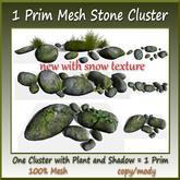 1 Prim Mesh Stone Cluster 6 Parts copy-mody