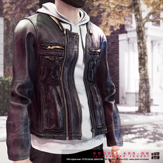 [Deadwool] Leather jacket - hoodie add-on DEMO