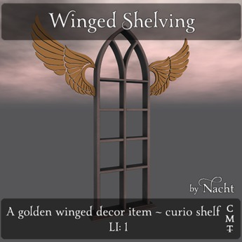 *~ by Nacht ~ Winged Shelving
