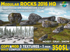 Modular rocks pack HQ SET + snow + mossy for building waterfalls, cliffs, boulders or just decoration