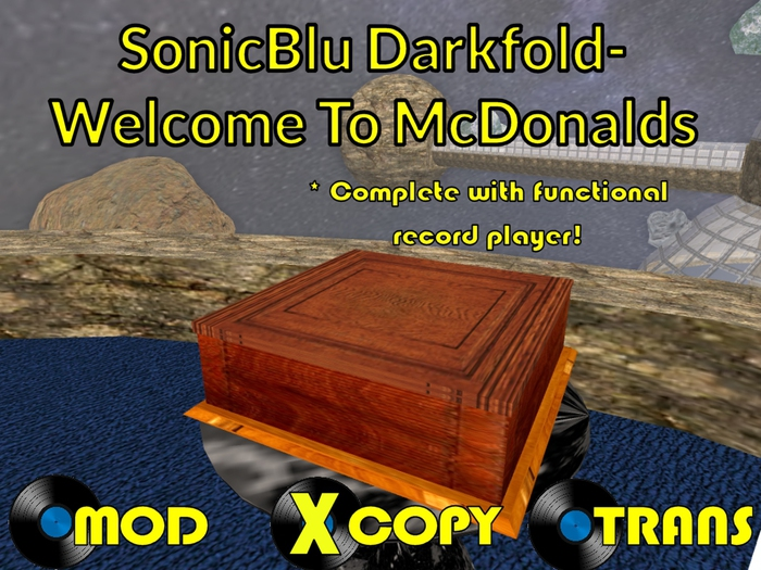 The Parody Collection: SonicBlu Darfold - Welcome To McDonalds (with FREE RECORD PLAYER)