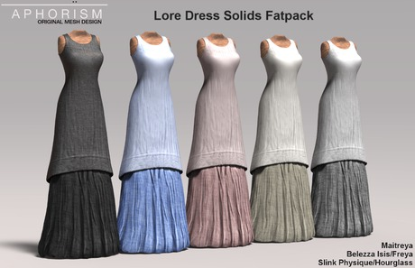 !APHORISM! Lore Dress Solid Fatpack