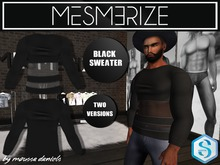Black Sweater (Transparent & Normal) By Mesmerize For Signature