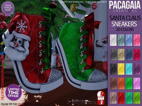 :PC: Santa Claus Sneakers (SLINK HIGH, MAITREYA AND BELLEZA )