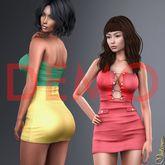 [DEMO] Mutresse - Leila Mini Dress - 20 Colors for Slink/Maitreya/Belleza/The Mesh Project