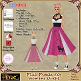 [Drac] Minnie Pink Poodle 50s Complete Outfit - fitmesh + maitreya + slink + belleza + TMP and resize shoes