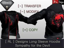 [ RL ] Designs Long Sleeve Hoodie - Sympathy for the Devil