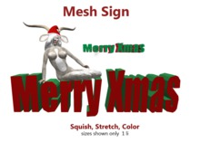 Merry Xmas Mesh Sign 1 LI Full Perms