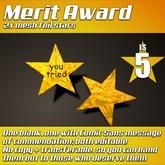 :Frio's: Merit Award Foil Star