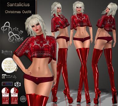 99L PROMOTION***ArisAris/B&W~Santalicius~CHRISTMAS OUTFIT