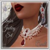 CB~Holiday Amber Garnet Jewlery Set(BOX)