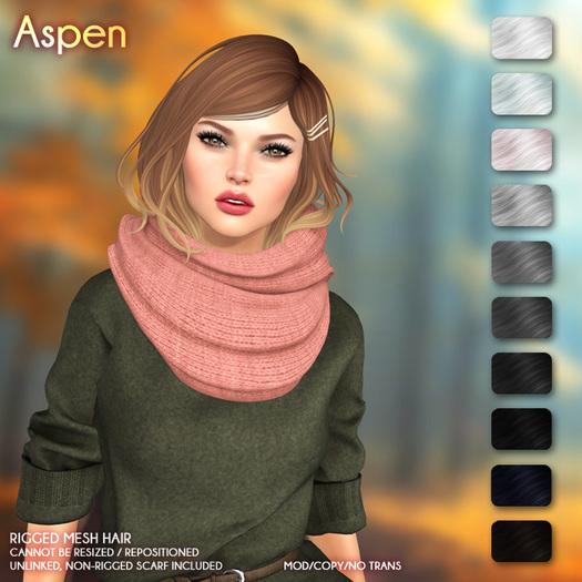 /Wasabi Pills/ Aspen Mesh Hair - B&W