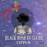BLACK ROSE GLOBE
