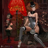 *GLITTER* FREAK OUTFIT MESH w/APPLIERS - MAKEUP w/OMEGA & mesh handbag