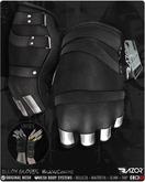 Razor/// Alloy Gloves - Single Color - Black/Chrome