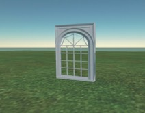 Window with transparent glass (Windowwhite4)